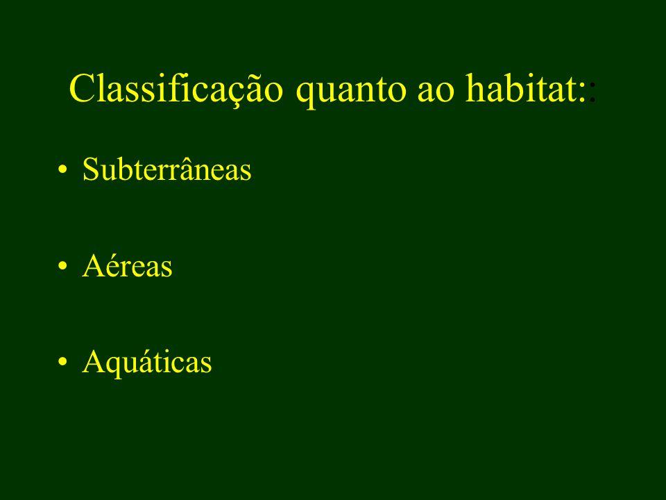 Classificação quanto ao habitat::