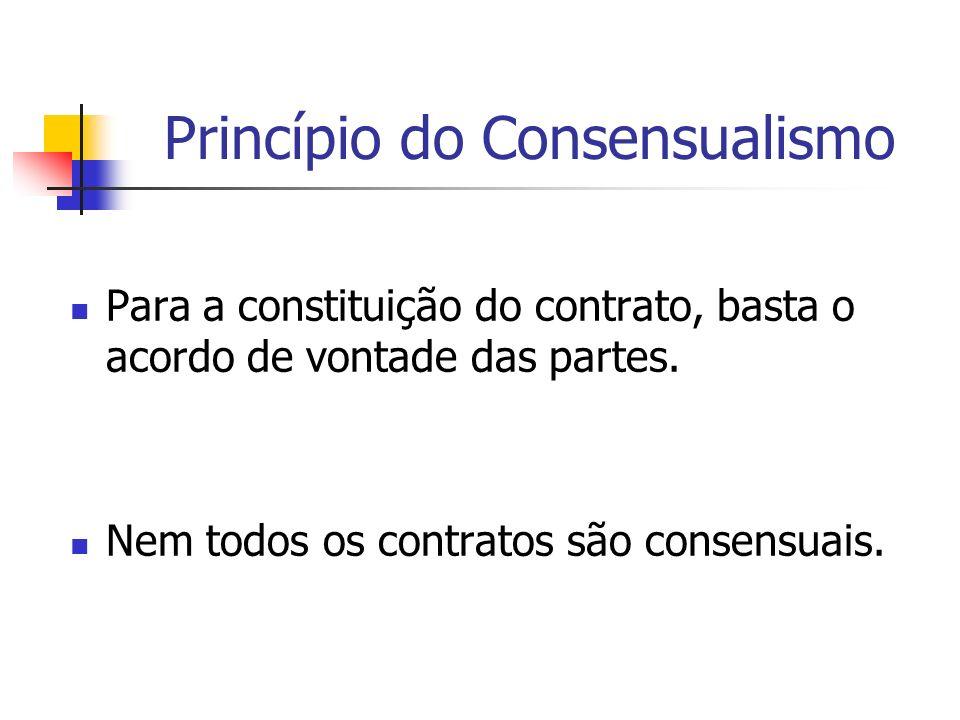 Princípio do Consensualismo