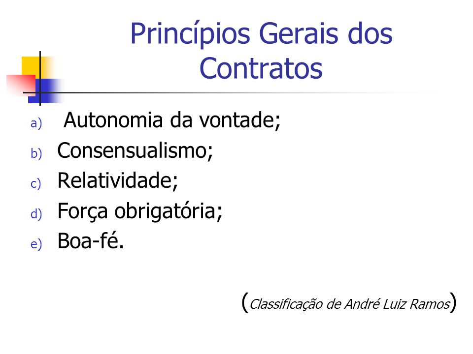 Princípios Gerais dos Contratos