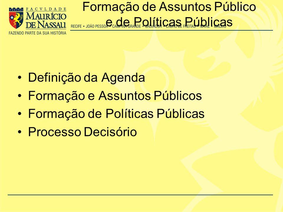 Formação de Assuntos Público e de Políticas Públicas