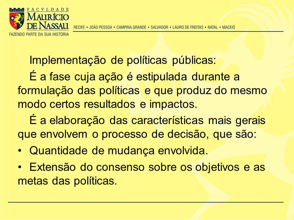 Implementação de políticas públicas: