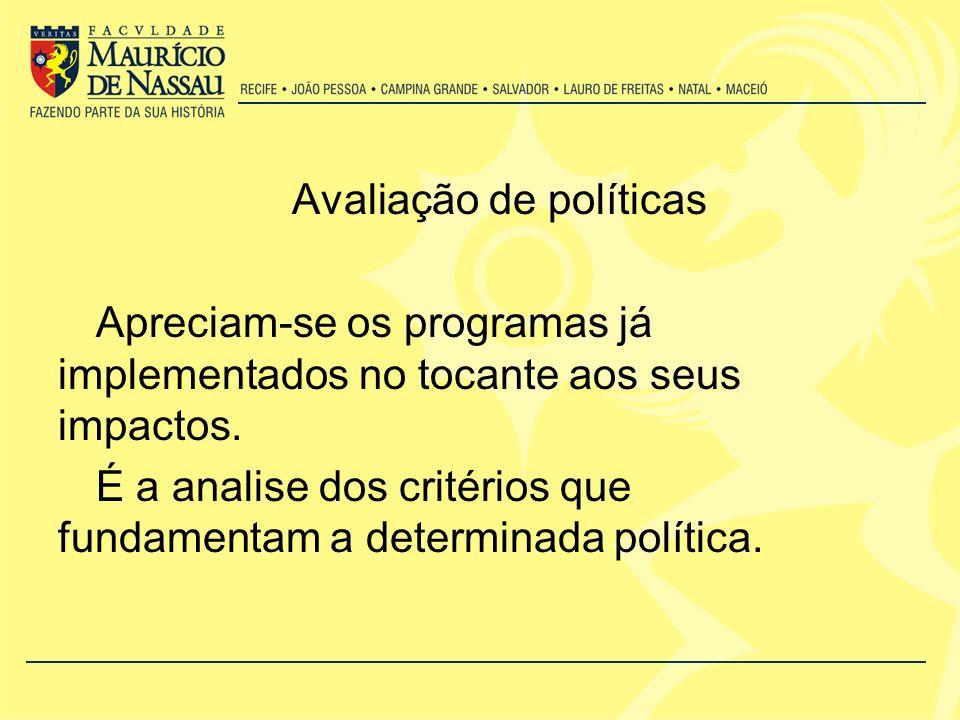 Avaliação de políticas