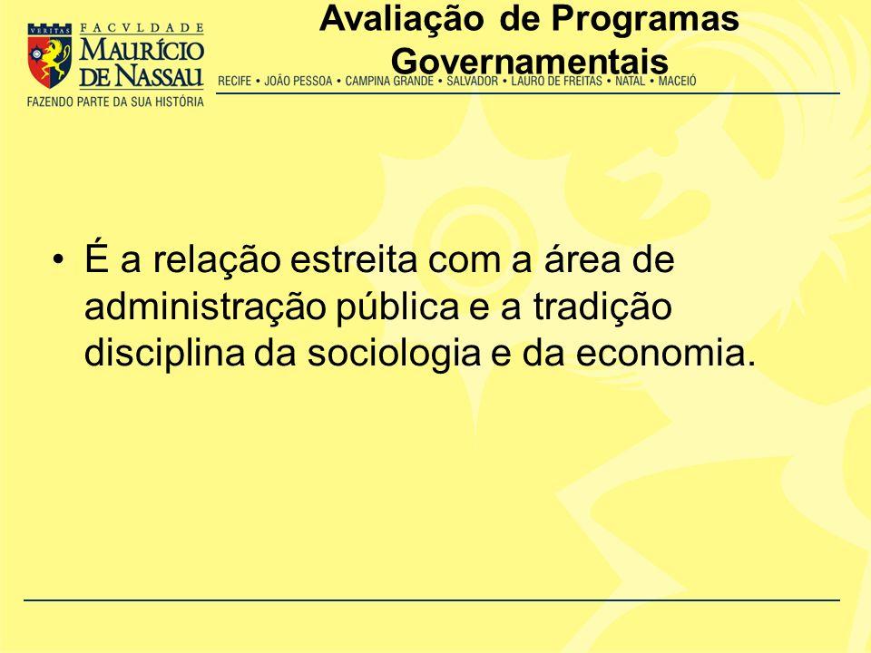 Avaliação de Programas Governamentais