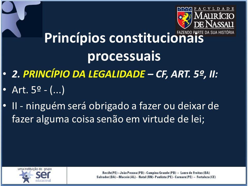 Princípios constitucionais processuais