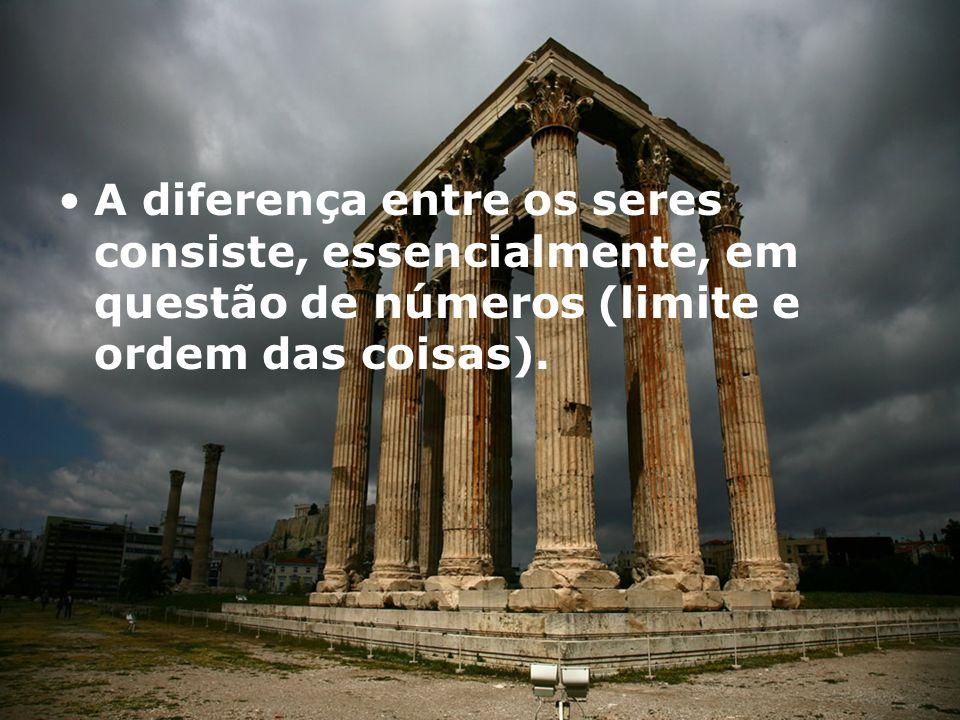 A diferença entre os seres consiste, essencialmente, em questão de números (limite e ordem das coisas).