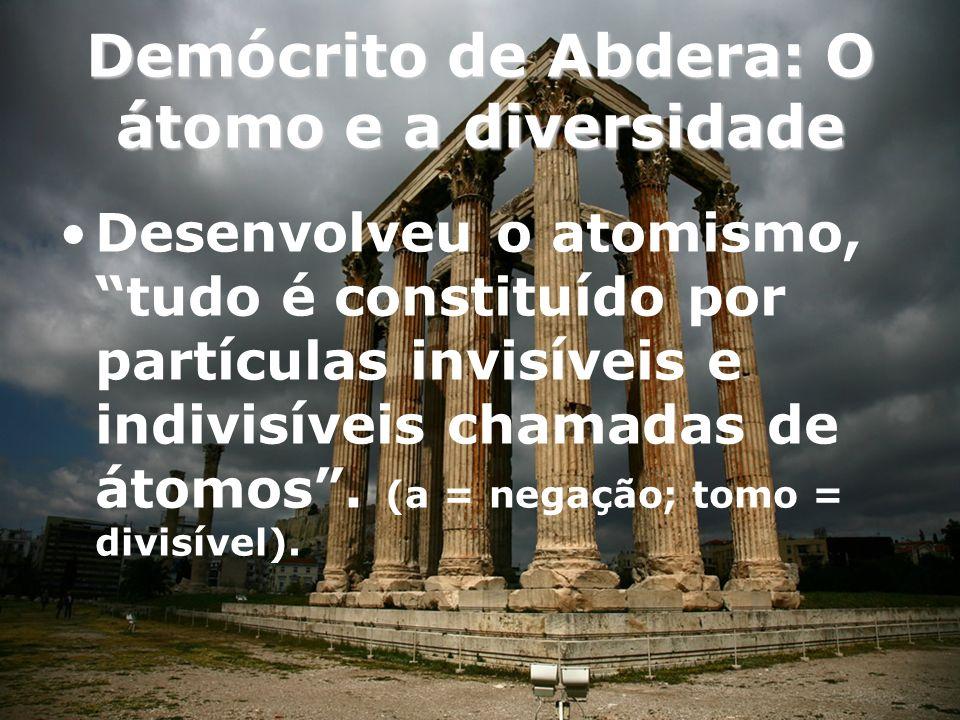 Demócrito de Abdera: O átomo e a diversidade
