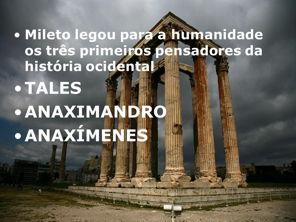 TALES ANAXIMANDRO ANAXÍMENES