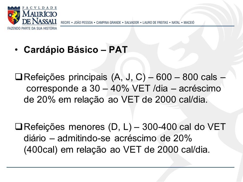 Cardápio Básico – PAT