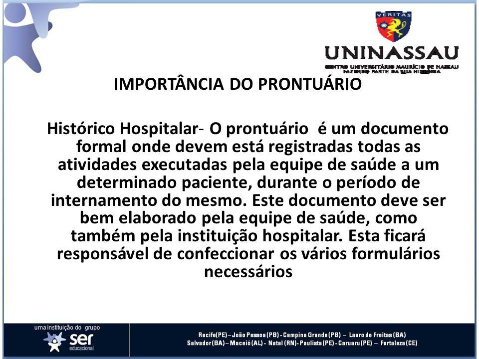 IMPORTÂNCIA DO PRONTUÁRIO