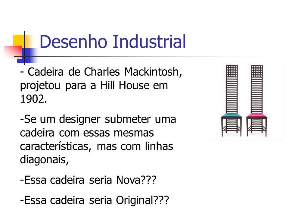 Desenho Industrial Cadeira de Charles Mackintosh, projetou para a Hill House em 1902.