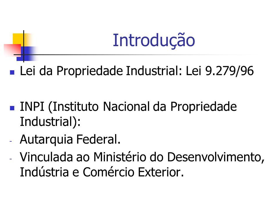 Introdução Lei da Propriedade Industrial: Lei 9.279/96