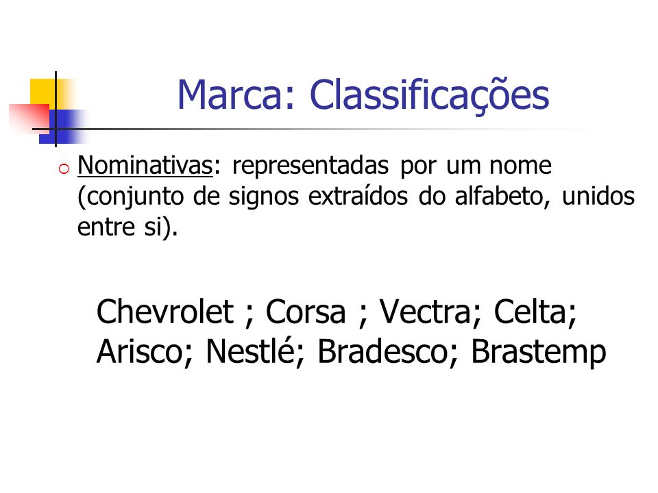 Marca: Classificações