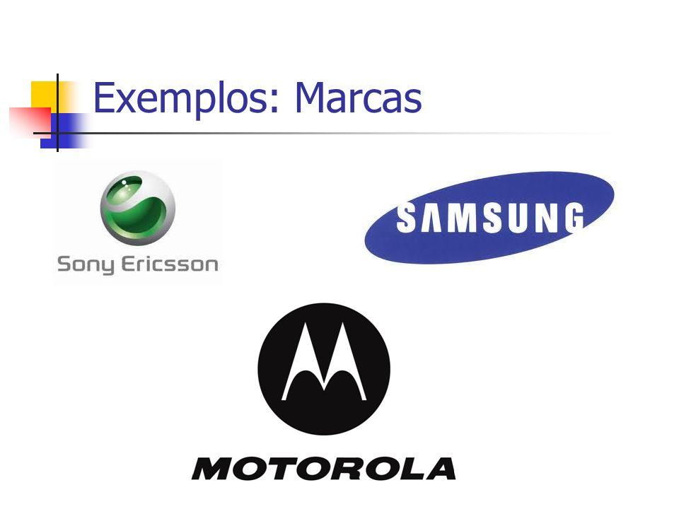 Exemplos: Marcas