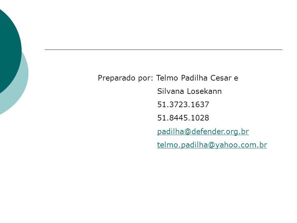Preparado por: Telmo Padilha Cesar e