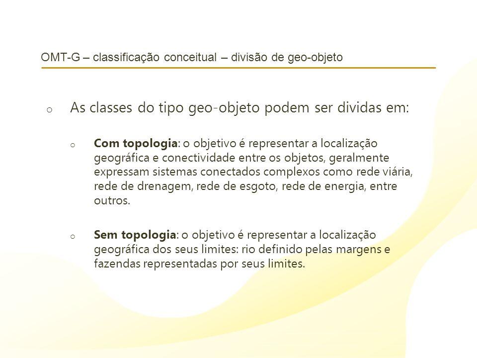 OMT-G – classificação conceitual – divisão de geo-objeto