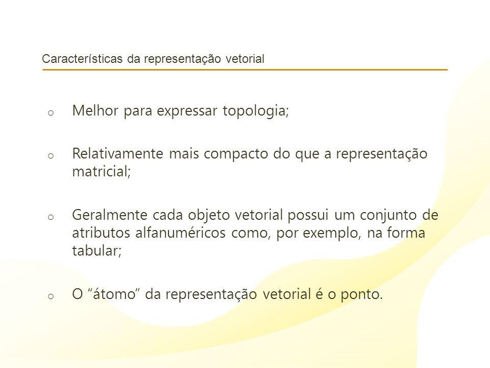 Características da representação vetorial
