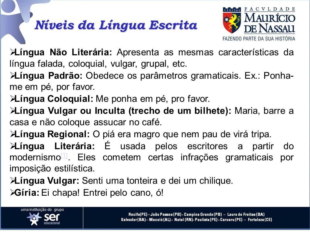 Níveis da Língua Escrita