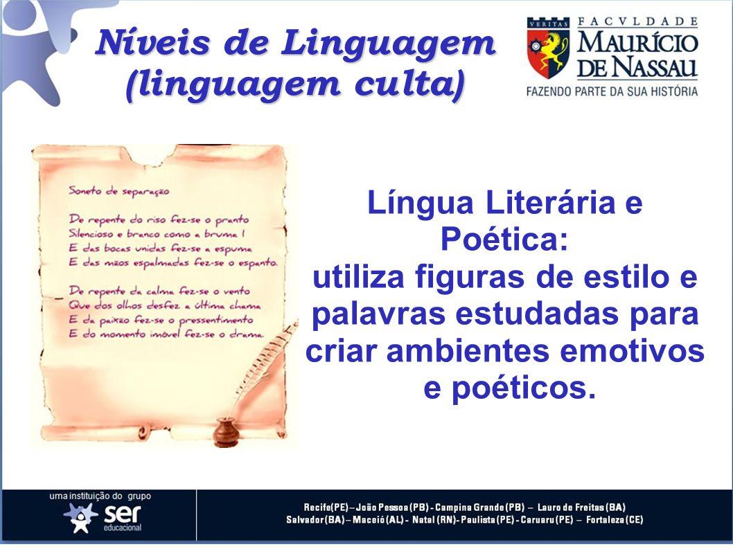 Língua Literária e Poética: