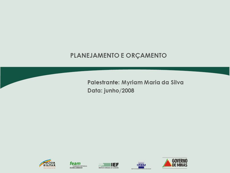 Palestrante: Myriam Maria da Silva Data: junho/2008