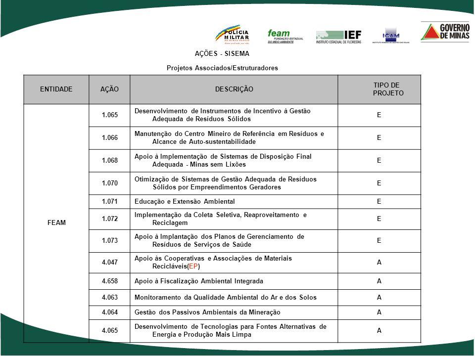 Projetos Associados/Estruturadores