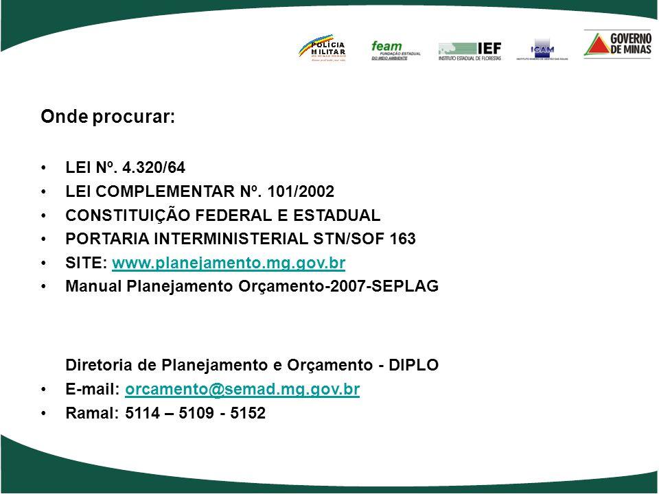 Diretoria de Planejamento e Orçamento - DIPLO