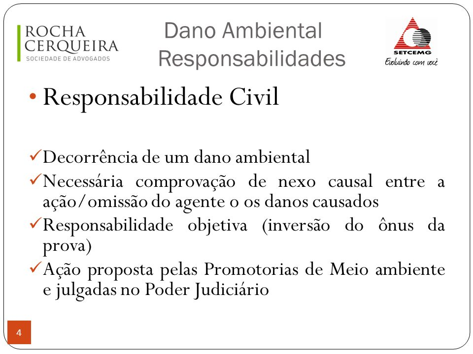 Dano Ambiental Responsabilidades