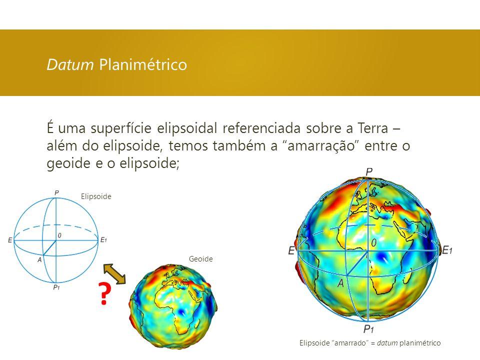 Elipsoide amarrado = datum planimétrico