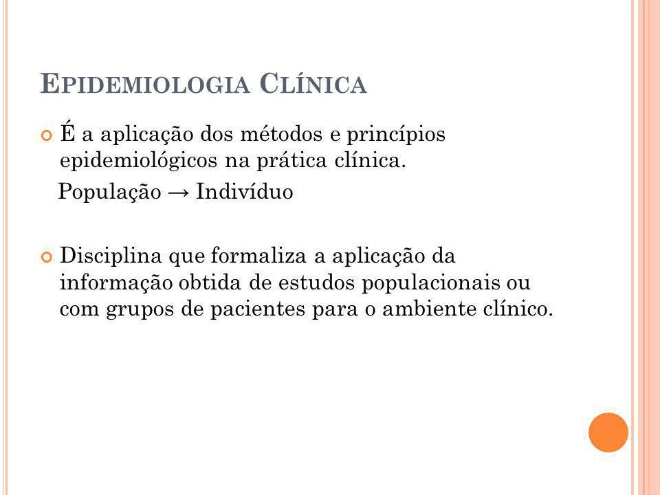 Epidemiologia Clínica