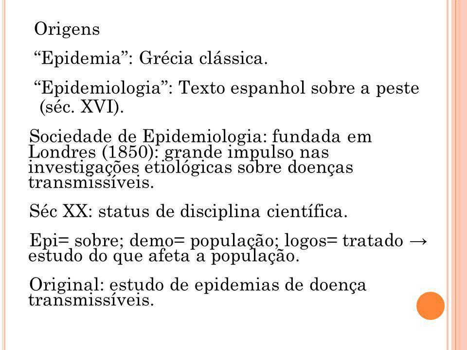 Origens Epidemia : Grécia clássica