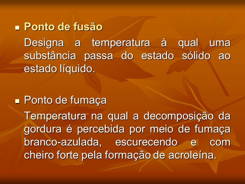 Ponto de fusão Designa a temperatura à qual uma substância passa do estado sólido ao estado líquido.