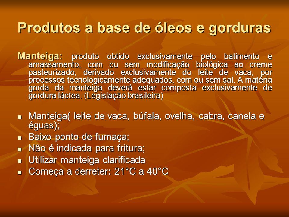 Produtos a base de óleos e gorduras