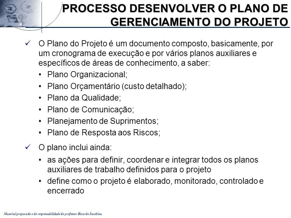 PROCESSO DESENVOLVER O PLANO DE GERENCIAMENTO DO PROJETO