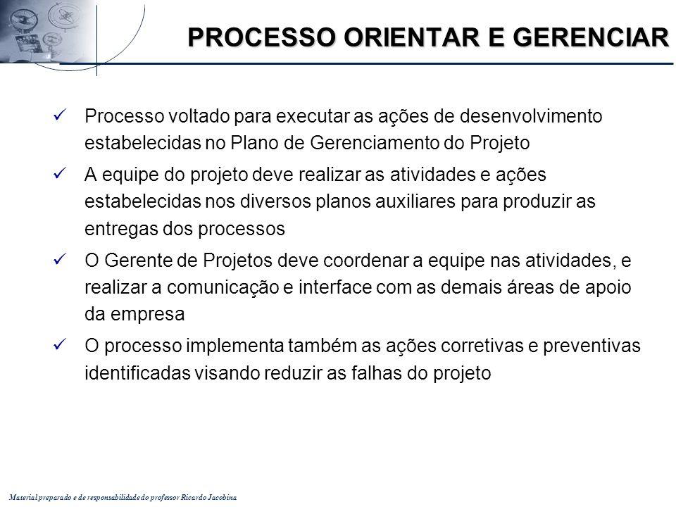 PROCESSO ORIENTAR E GERENCIAR