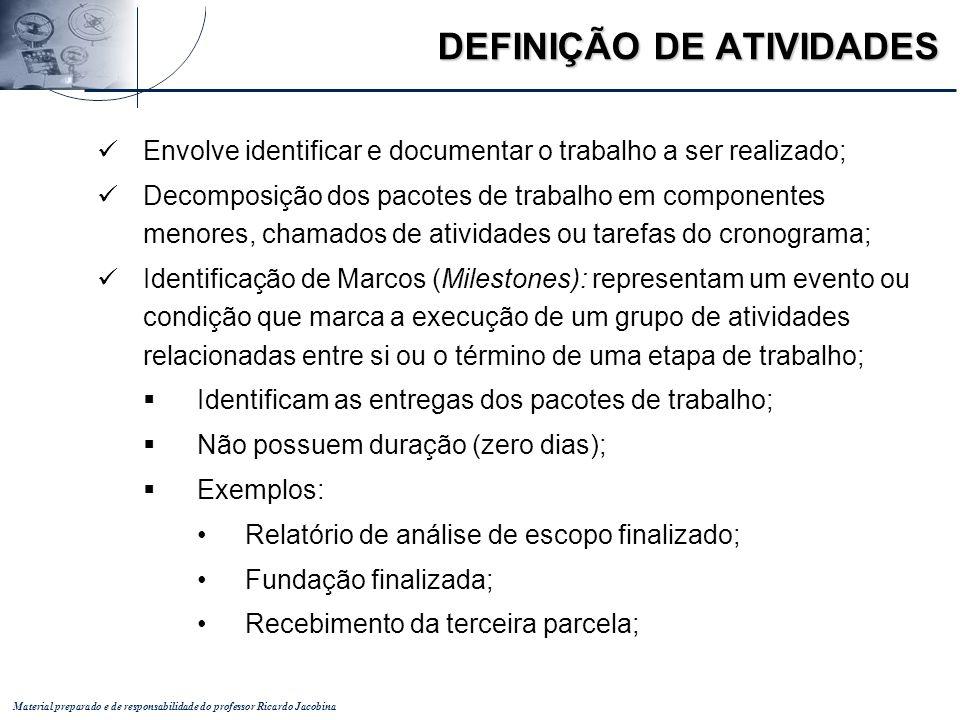 DEFINIÇÃO DE ATIVIDADES