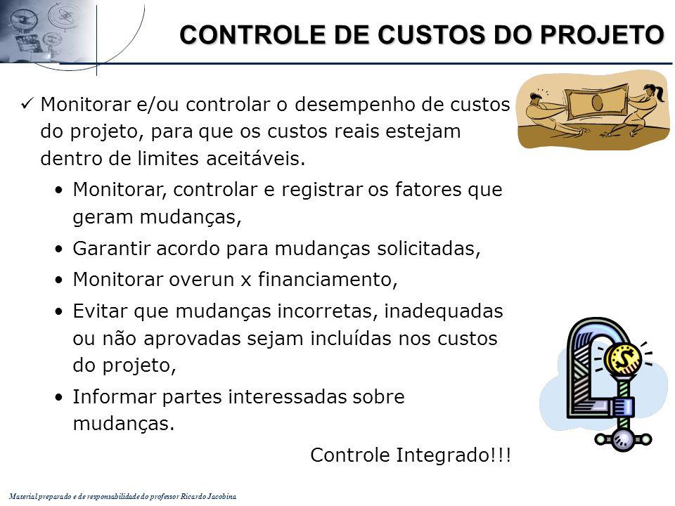 CONTROLE DE CUSTOS DO PROJETO