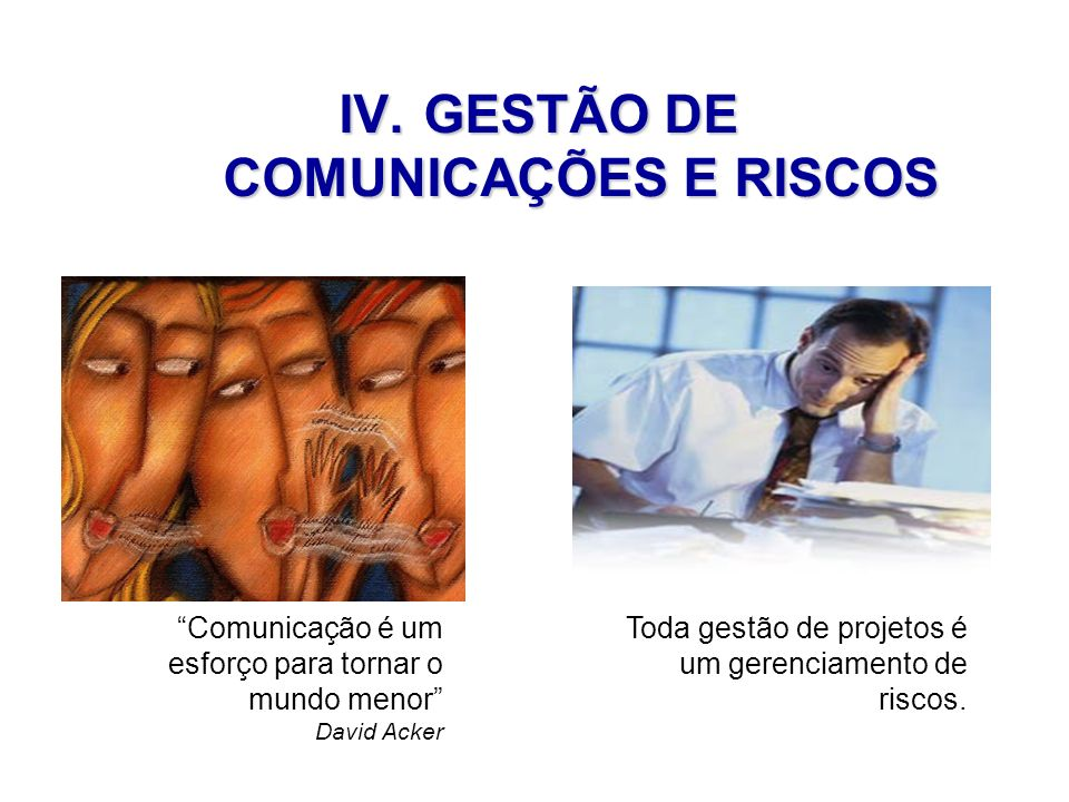 GESTÃO DE COMUNICAÇÕES E RISCOS