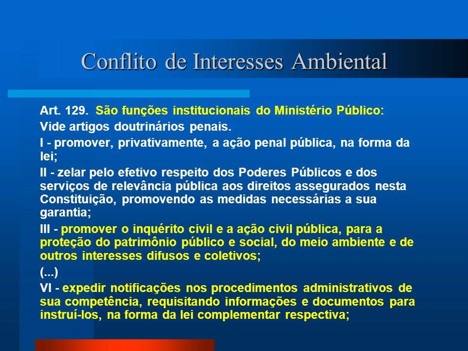 Conflito de Interesses Ambiental
