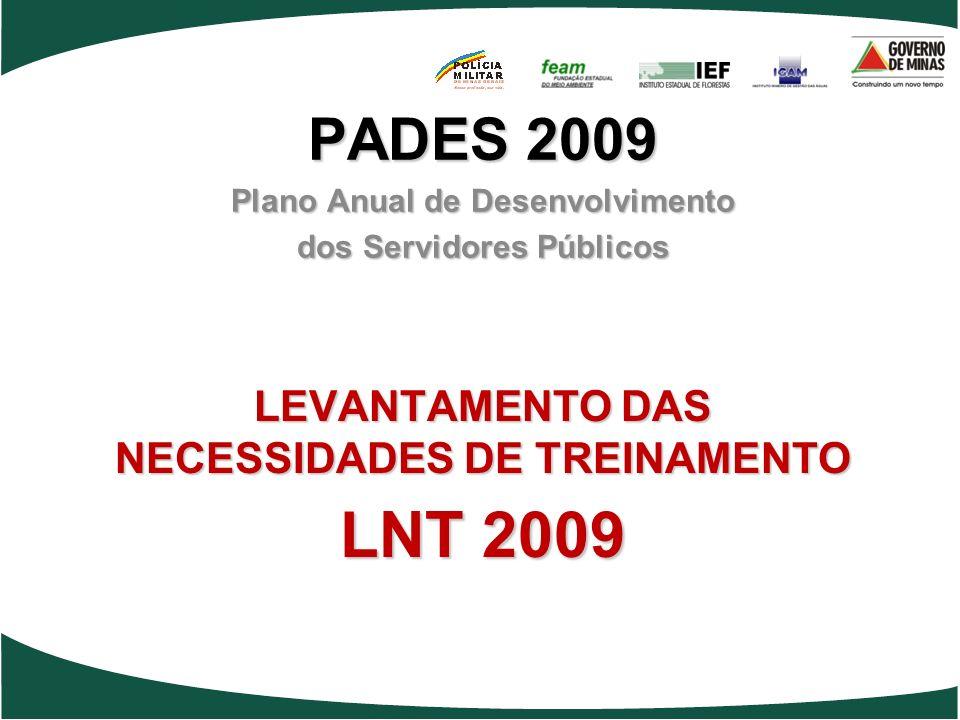 LEVANTAMENTO DAS NECESSIDADES DE TREINAMENTO LNT 2009