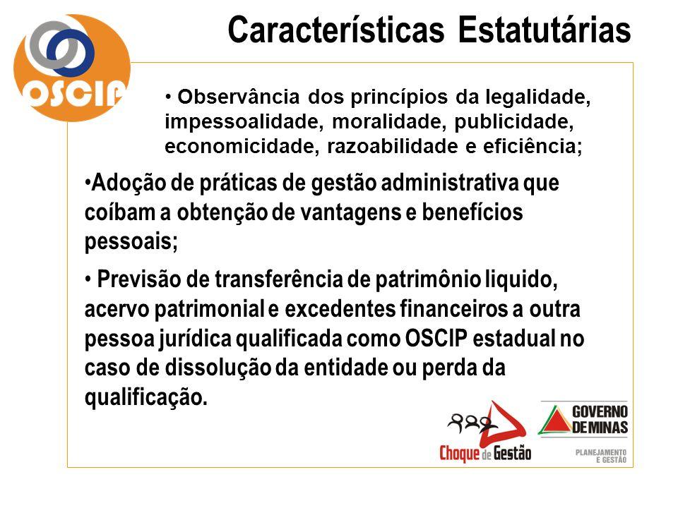 Características Estatutárias