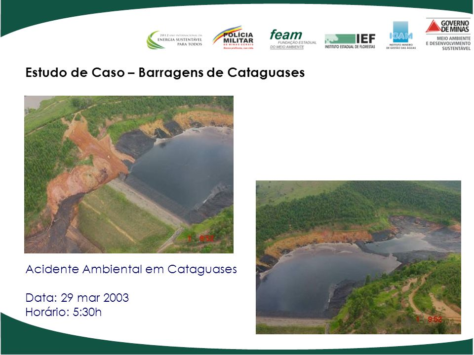 Estudo de Caso – Barragens de Cataguases