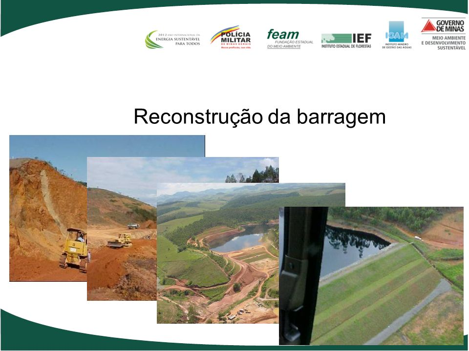 Reconstrução da barragem