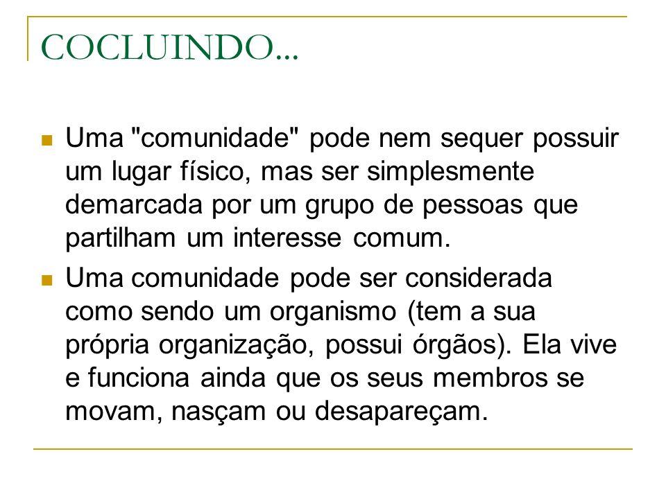 COCLUINDO...