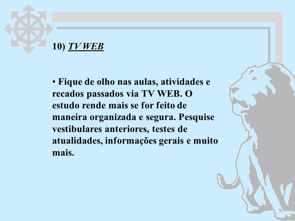 10) TV WEB