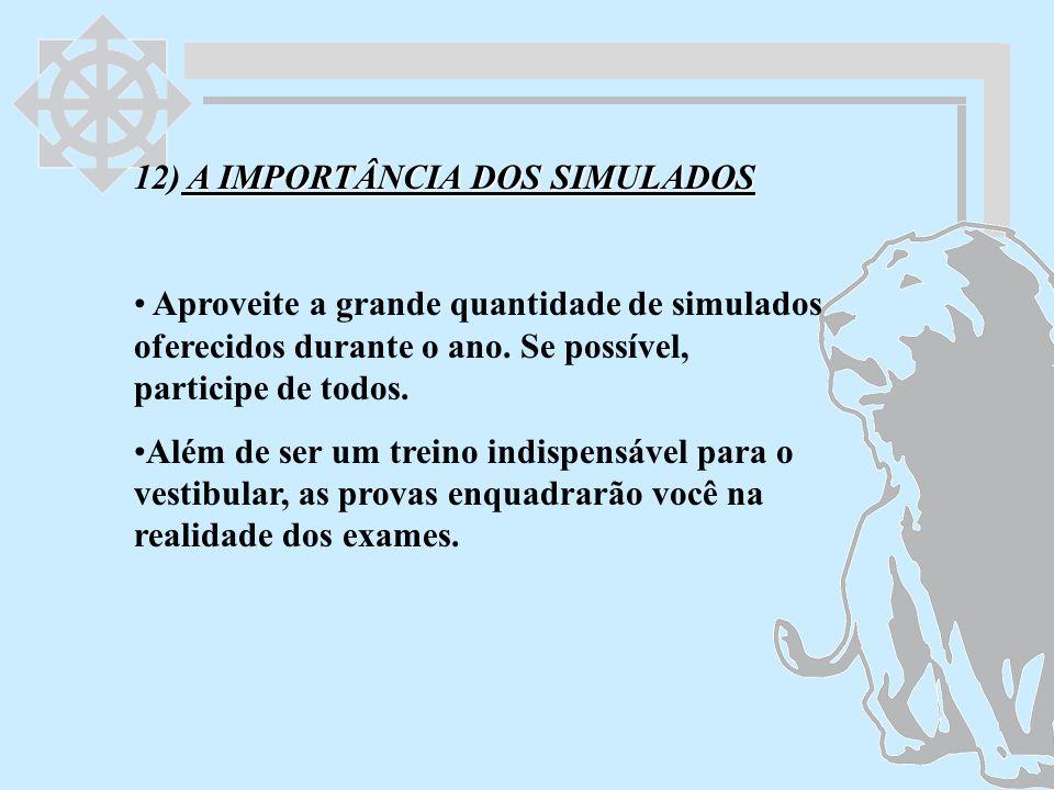 12) A IMPORTÂNCIA DOS SIMULADOS