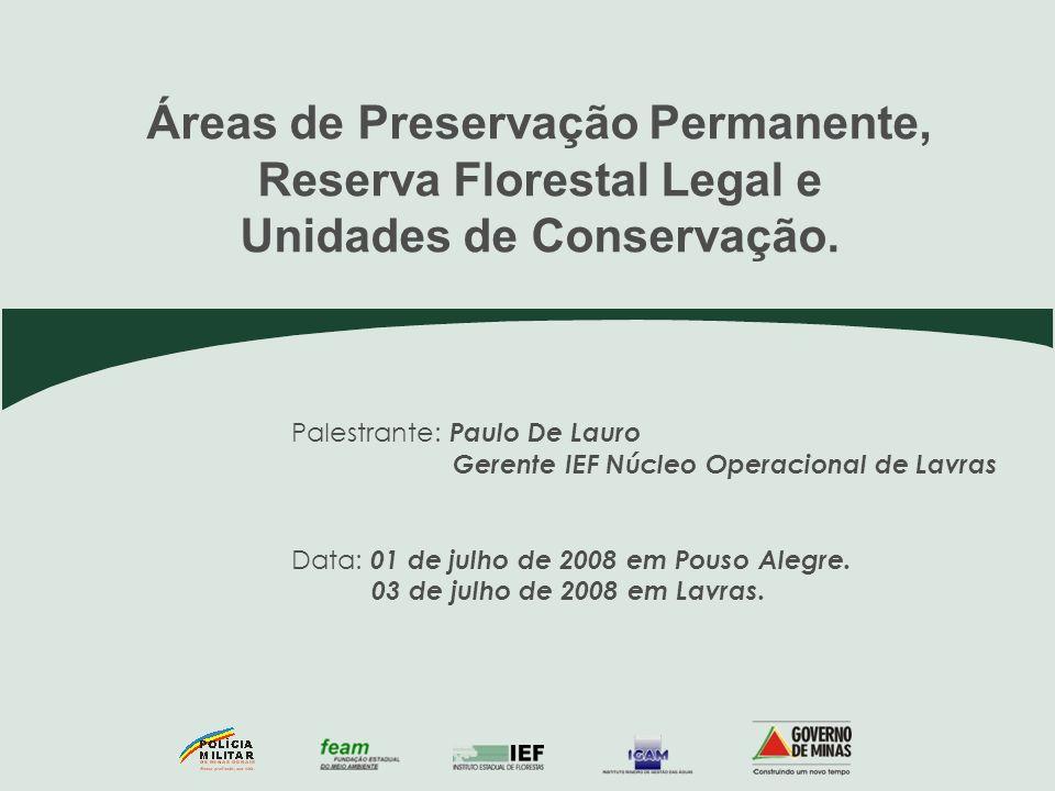Áreas de Preservação Permanente, Reserva Florestal Legal e