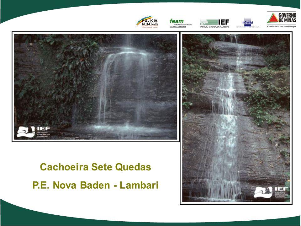 Cachoeira Sete Quedas P.E. Nova Baden - Lambari