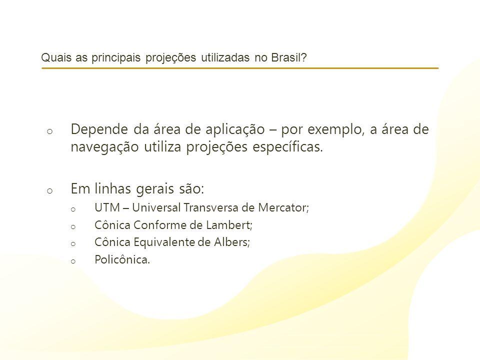 Quais as principais projeções utilizadas no Brasil