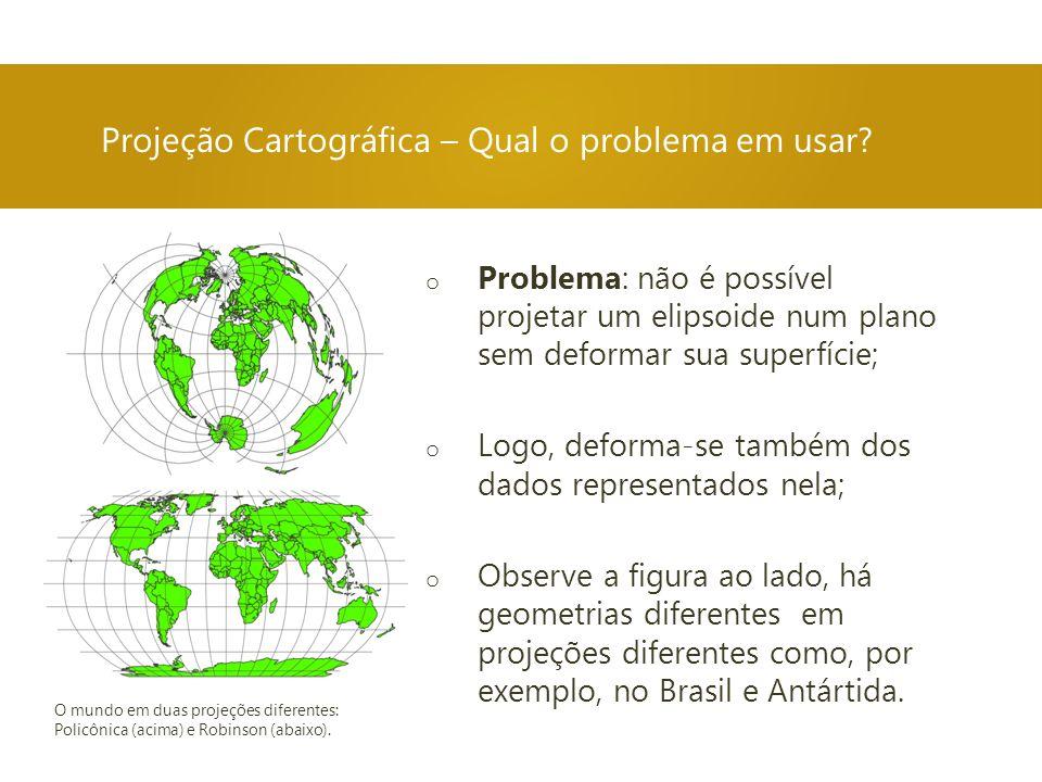 Projeção Cartográfica – Qual o problema em usar