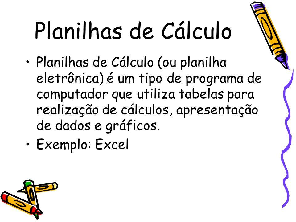Planilhas de Cálculo