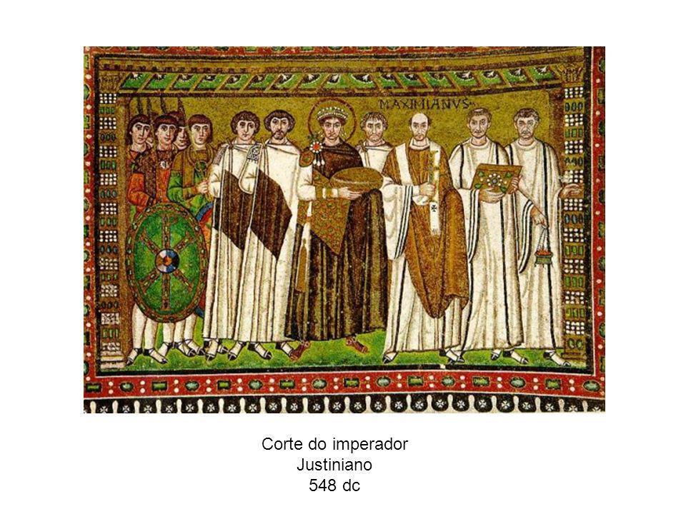 Corte do imperador Justiniano